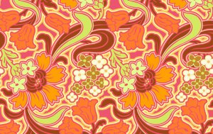 Amy Butler Soul Blossoms Fabric - Disco Flower - Tangerine