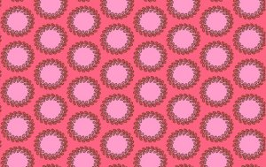 Amy Butler Soul Blossoms Fabric - Laurel Dots - Cherry