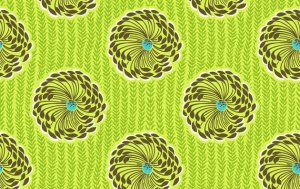 Amy Butler Soul Blossoms Fabric - Delhi Blooms - Lime