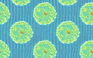 Amy Butler Soul Blossoms Fabric - Delhi Blooms - Ocean