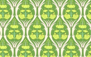 Amy Butler Soul Blossoms Fabric - Passion Lily - Fern