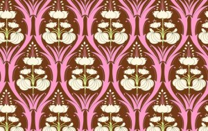 Amy Butler Soul Blossoms Fabric - Passion Lily - Mulberry