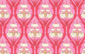 Amy Butler Soul Blossoms Fabric - Passion Lily - Cerise Pink