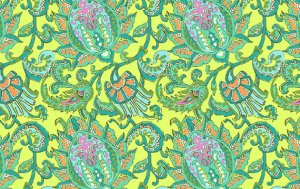 Amy Butler Soul Blossoms Fabric - Dancing Paisley - Lemon