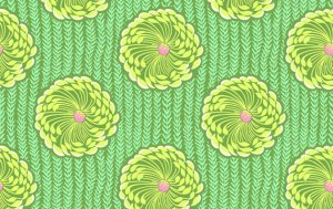Amy Butler Soul Blossoms Fabric - Delhi Blooms - Grass