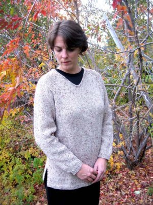 Knitting Pure and Simple Women's Sweater Patterns - 0996 - Bulky V Neck Pullover Pattern