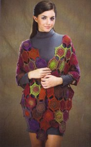 Wisdom Yarns Poems Millefiori Shawl Kit - Crochet for Adults