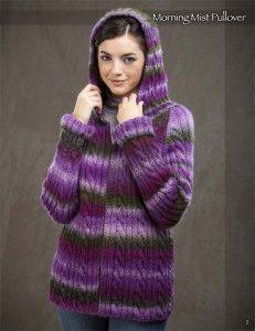 Wisdom Yarns Poems Morning Mist Hoodie Kit - Women's Cardigans