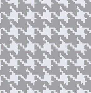 Freespirit Designer Essentials Print Fabric - Houndstooth - Gray (Discontinued)
