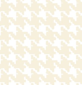 Freespirit Designer Essentials Print Fabric - Houndstooth - Egg Shell