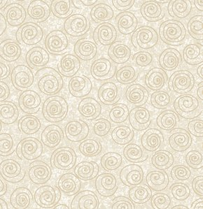 Freespirit Designer Essentials Print Fabric - Pinwheel - Tan