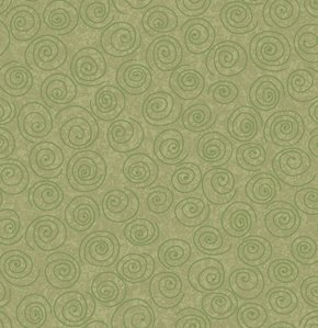 Freespirit Designer Essentials Print Fabric - Pinwheel - Olive