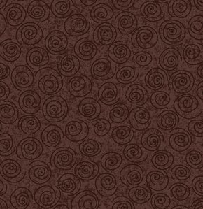 Freespirit Designer Essentials Print Fabric - Pinwheel - Espresso