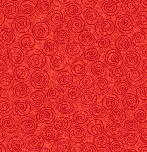 Freespirit Designer Essentials Print Fabric - Pinwheel - Red
