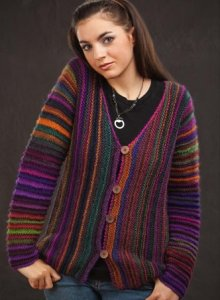 Wisdom Yarns Poems Precious Gems Cardigan Kit - Women's Cardigans