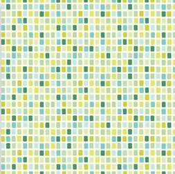 Heather Bailey Garden District Sateen Fabric - City Grid - Blue