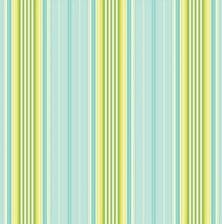 Heather Bailey Garden District Sateen Fabric - French Ribbon - Blue