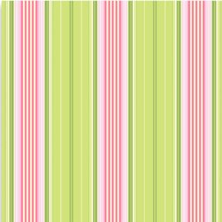 Heather Bailey Garden District Sateen Fabric - French Ribbon - Green