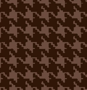 Freespirit Designer Essentials Print Fabric - Houndstooth - Chocolate