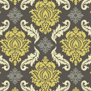 Joel Dewberry Aviary 2 Fabric - Damask - Granite