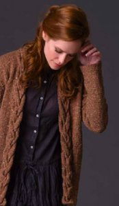 Tahki Stacy Charles Tara Tweed Rosewood Cardigan Kit - Women's Cardigans