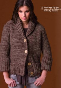 Tahki Stacy Charles Big Montana Sandalwood Cardigan Kit - Women's Cardigans