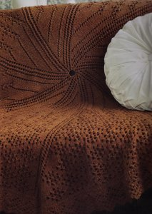 Cascade 220 Vortex Spiral Afghan Kit - Home Accessories