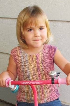 Knitting Pure and Simple Baby & Children Patterns - 0125 - Side to Side Pullover for Girls Pattern