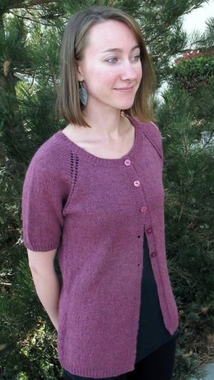 Knitting Pure and Simple Summer Sweater Patterns - 123 - Top Down Lightweight Cardigan Pattern