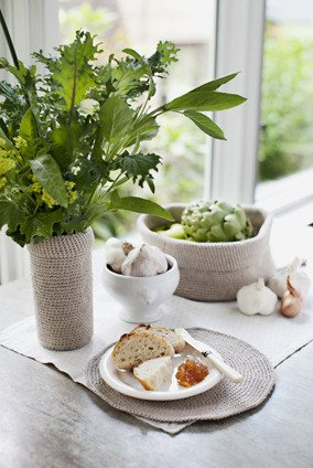 Churchmouse at Home Patterns - Crocheted Baskets Pattern