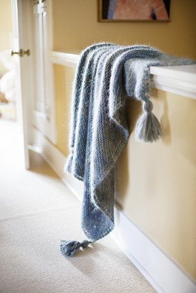 Churchmouse at Home Patterns - Picot-Edge Mohair Throw