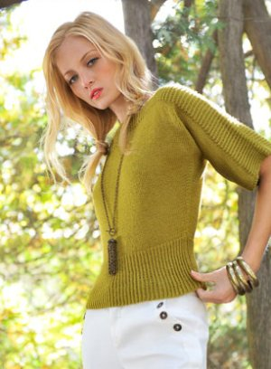 Blue Sky Fibers Adult Clothing Patterns - Siivet Pullover Pattern