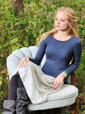Blue Sky Fibers Adult Clothing Patterns - Vladimira's Shell Pattern