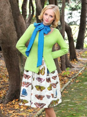 Blue Sky Fibers Adult Clothing Patterns - Primavera Cardigan Pattern