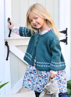 Blue Sky Fibers Baby & Children Patterns - Cotton Sweet Cardi Pattern