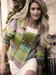 Noro Silk Garden Lite Double Breasted Jacket Kit - Women's Cardigans