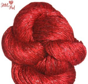Artyarns Rhapsody Glitter Light Yarn - 244 w/Silver (Stitch Red)