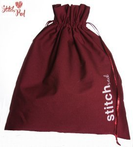 della Q Edict Cotton Pouch Style 118-2 - Stitch Red