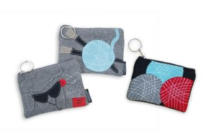 Lantern Moon Felt Keychain Clutch - Yarn Balls (Discontinued)