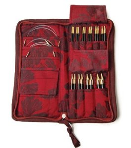 Lantern Moon Ebony Interchangeable Needle Set Needles - Red/Chocolate Needles