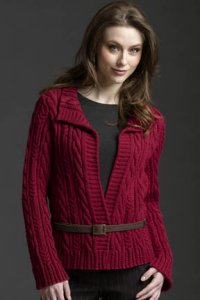 Filatura di Crosa Zara Allover Cable Cardigan Kit - Women's Cardigans