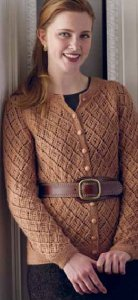 The Fibre Company Road to China Light Ginger Lace Cardigan Kit - Women's Cardigans