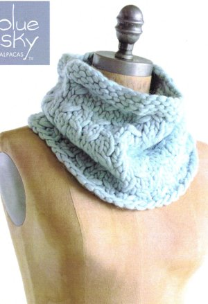 Blue Sky Fibers Traveler's Series Patterns - Frosty Cowl Pattern