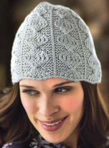 Cascade Venezia Worsted Ogee Beanie Kit - Hats and Gloves