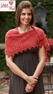 Kollage Patterns - 3816 Sister Shawls (Stitch Red) Pattern