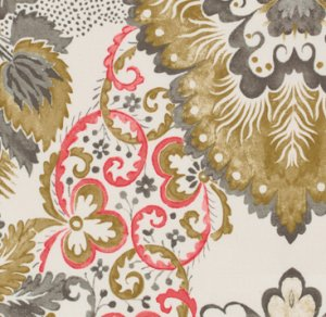 Victoria and Albert Garthwaite Fabric - Damask - Neutral
