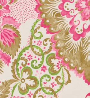 Victoria and Albert Garthwaite Fabric - Damask - Pink