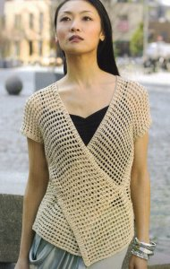 Tahki Cotton Classic Lite Tokyo Vest Kit - Crochet for Adults