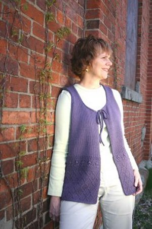 Knitting at Knoon Patterns - Garden Vest Pattern