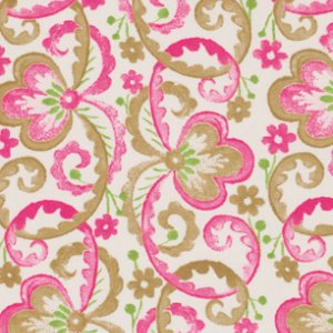 Victoria and Albert Garthwaite Fabric - Scroll - Pink